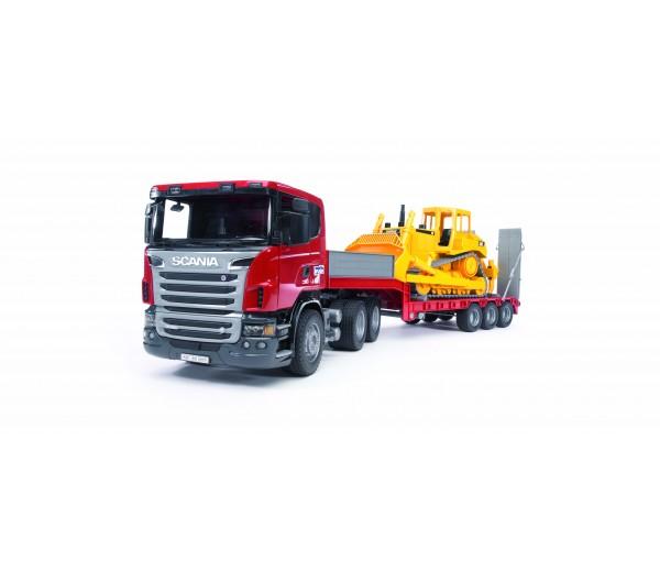 Scania dieplader en CAT bulldozer