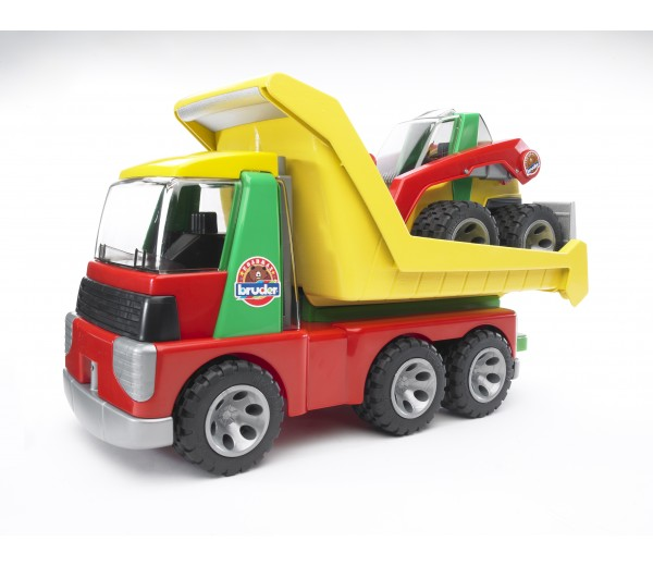 Transport vrachtwagen en minishovel