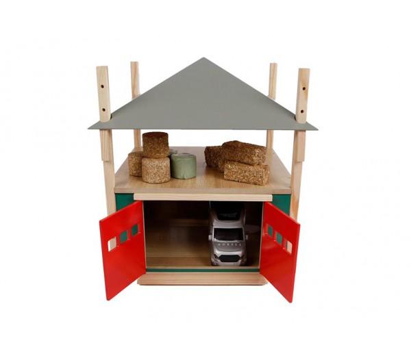 Hooischuur met verstelbaar dak