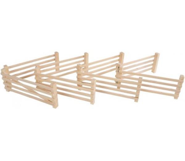 8 houten hekken
