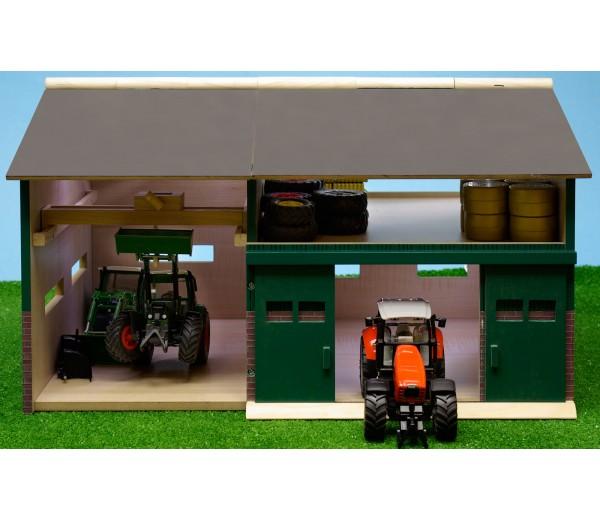Tractorwerkplaats en schuur