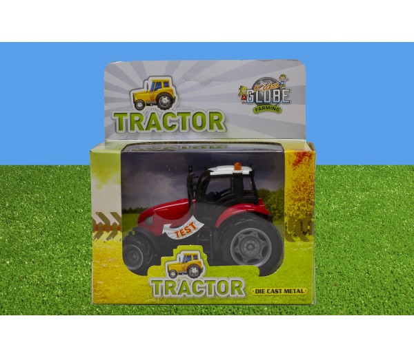 Rode tractor met licht en geluid