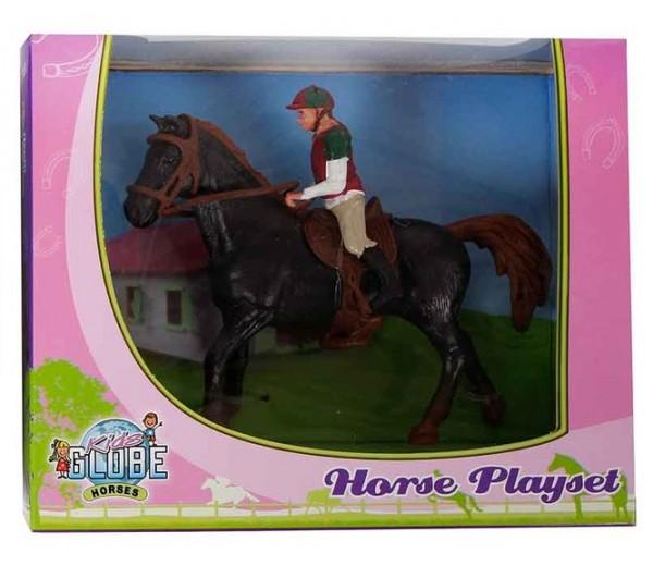 Paarden speelset met paard en amazone