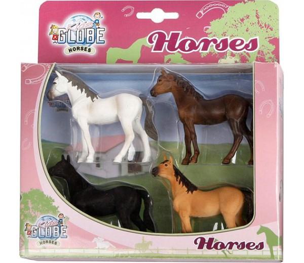 Vier paarden set