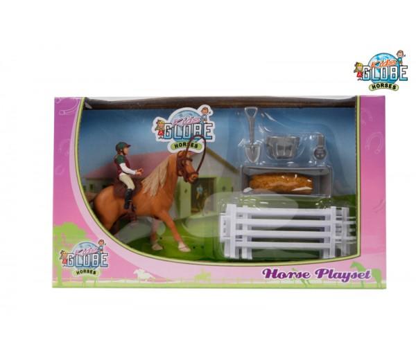 Paarden speelset met ruiter
