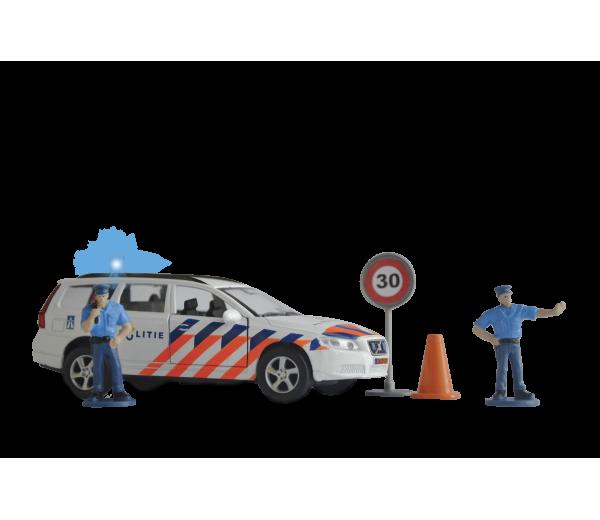 Politieauto Volvo V70 met 2 politieagenten
