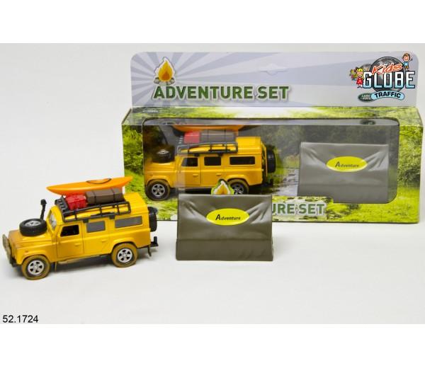 Avonturenset met Land Rover en tent