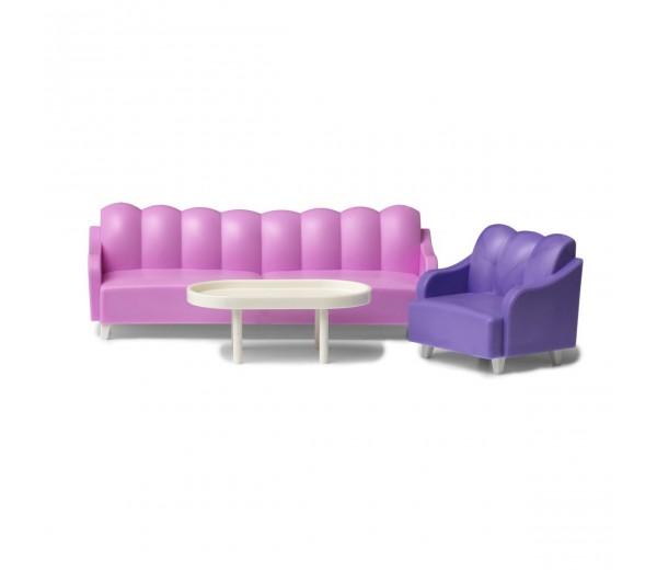 Woonkamerset met stoel en bankstel