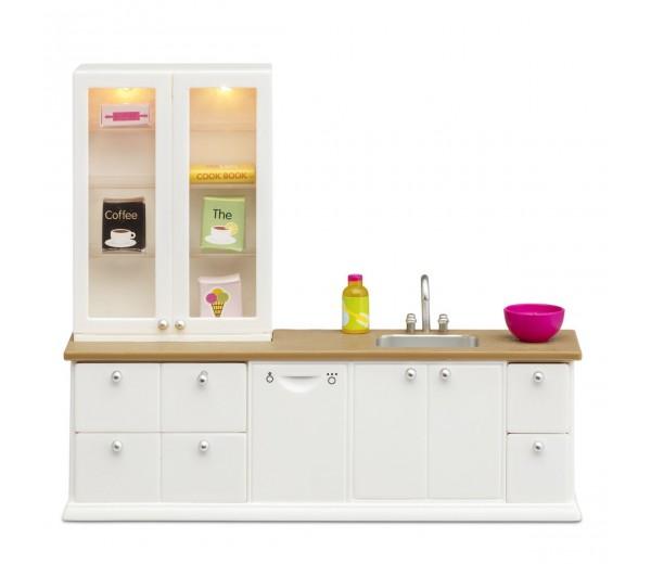 Witte keukenset met accessoires