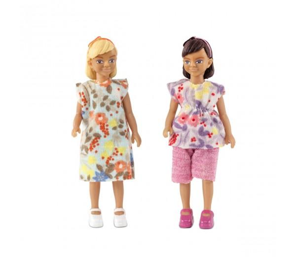 Poppenset van twee meisjes