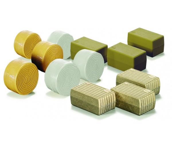 Set van ronde en vierkante balen