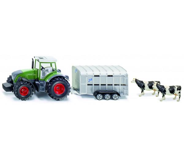 John Deere tractor met veetrailer