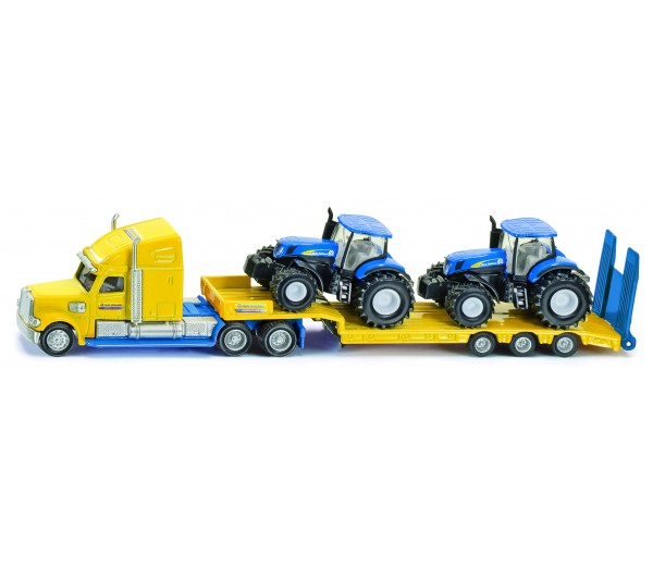 New Holland dieplader met 2 tractoren