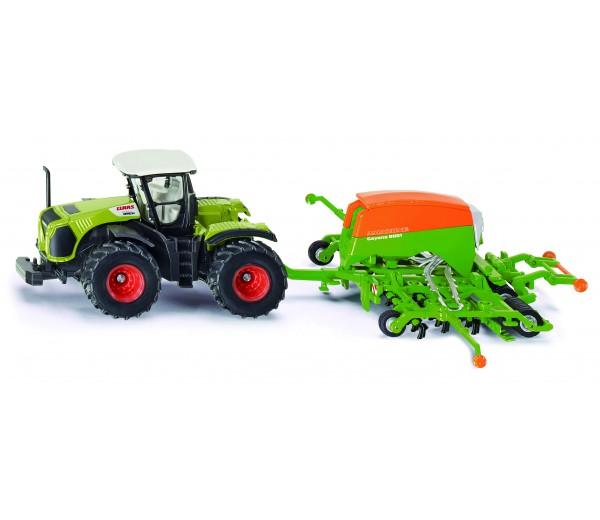 Claas Xerion tractor met Amazone zaaimachine