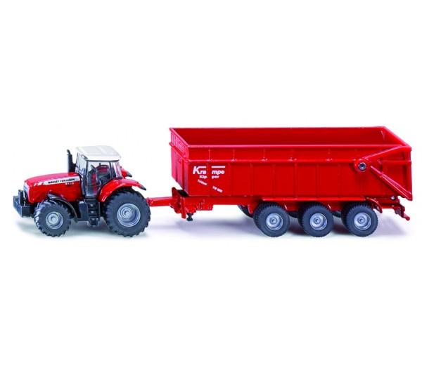 Massey Ferguson tractor en kipper