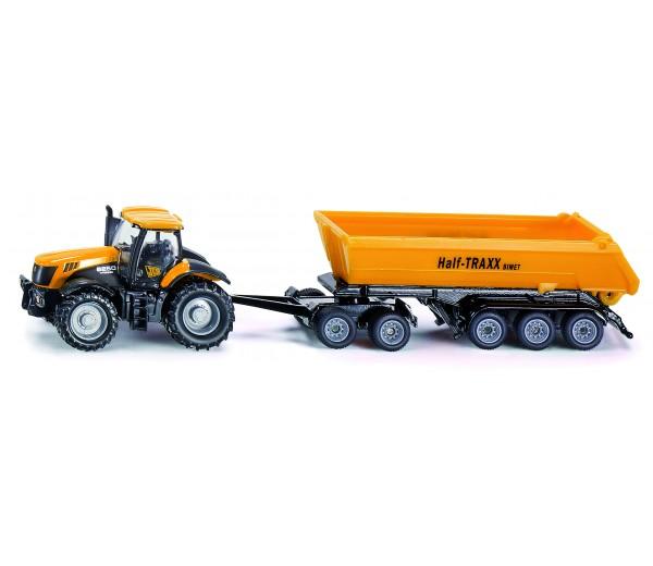 JCB tractor met Dolly en kipper aanhanger