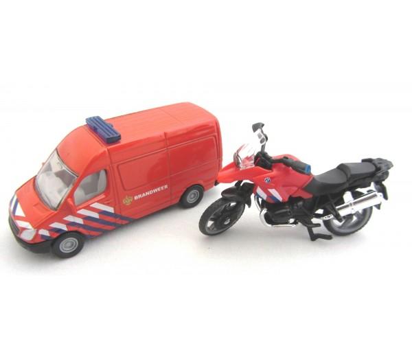 Brandweerset NL met busje en motor