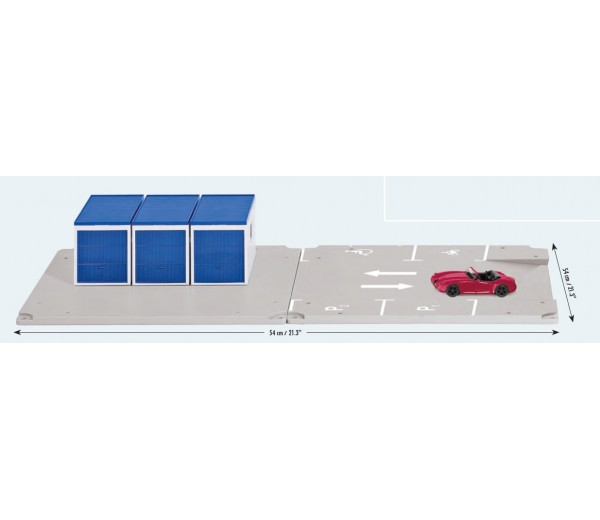 Set van 3 garages met parkeerplaatsen