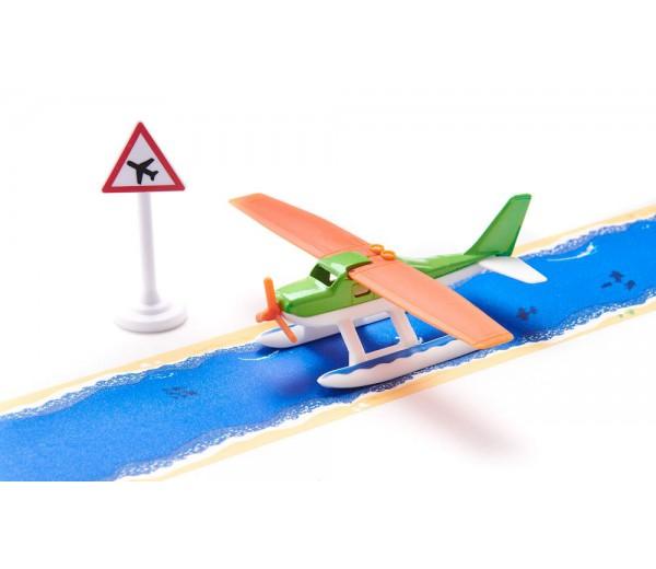 Watervliegtuig met tape