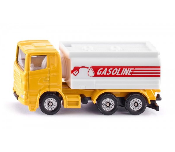 Geel/witte tankwagen