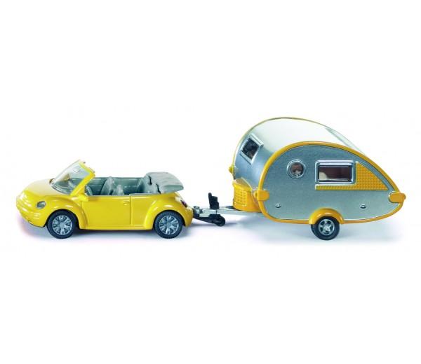 Personenauto met caravan